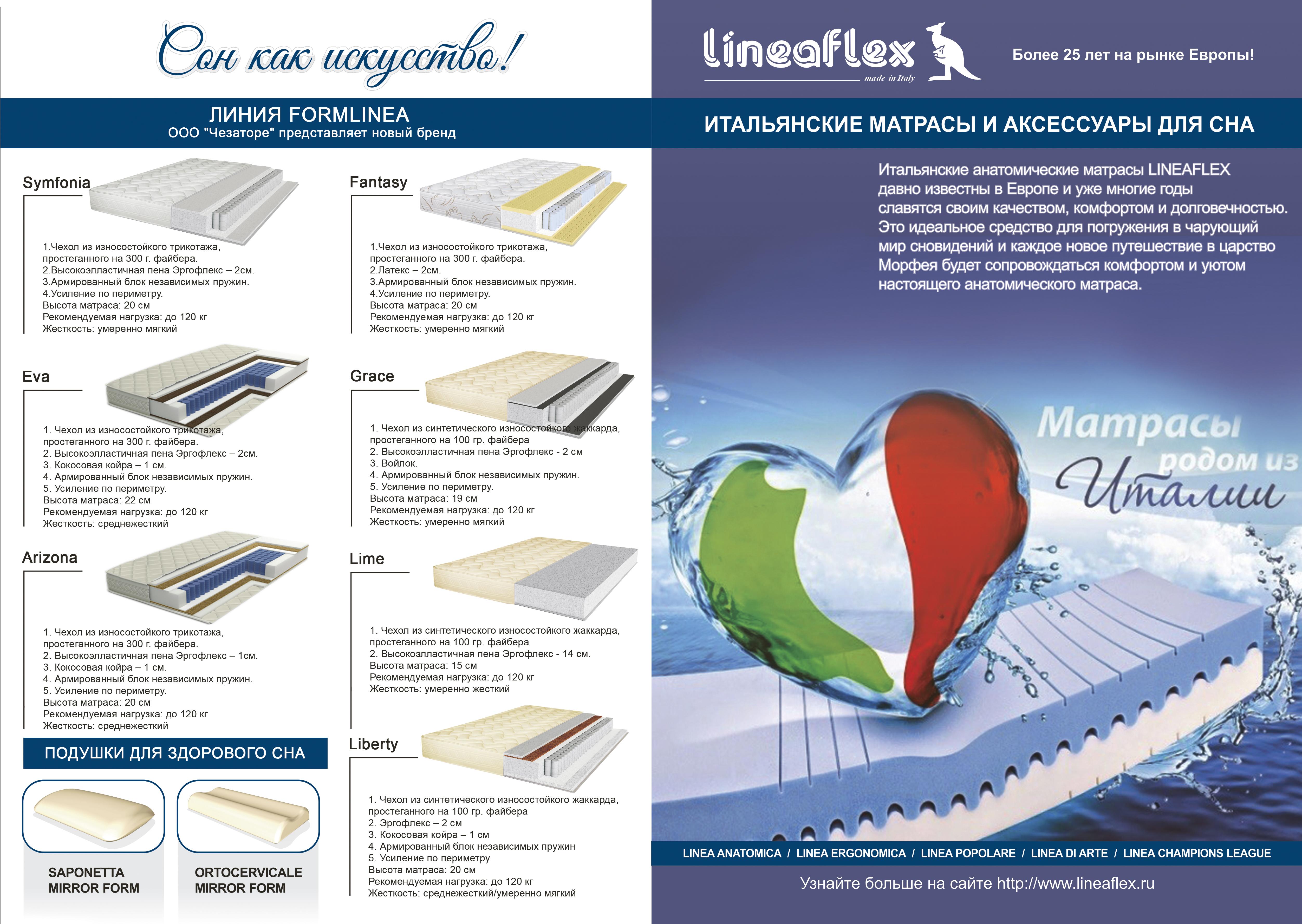 Lineaflex ортопедические матрасы